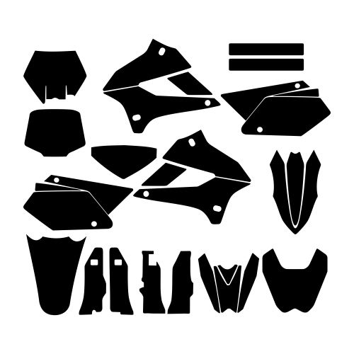 KAWASAKI KLX 250 2009 2010 2011 2012 2013 2014 2015 2016 2017 2018 Graphic Templates