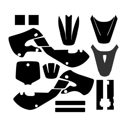 KAWASAKI KX 65 2000 - 2019 Graphic Templates