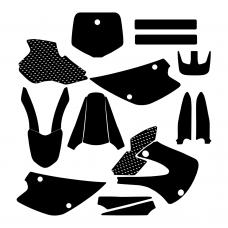 Kawasaki KX 80 1998 1999 2000 2001 2002 2003 2004 Graphic Templates