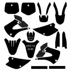 Kawasaki KX 85 2005 2006 2007 2008 2009 2010 2011 2012 Graphic Templates