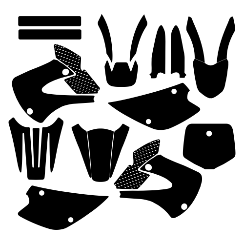 KAWASAKI KX 85 2013 Graphic Templates