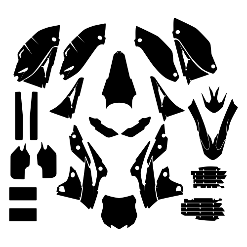 KAWASAKI KXF 250 2016 Graphic Templates
