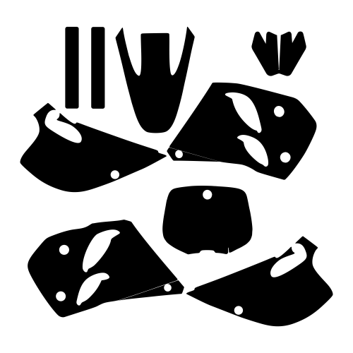 KTM 1993 1994 1995 1996 1997 2-STROKE Graphic Templates