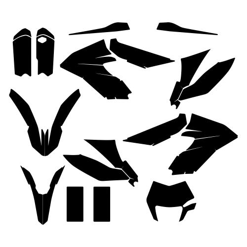 KTM 350 FREERIDE 2015 Graphic Templates