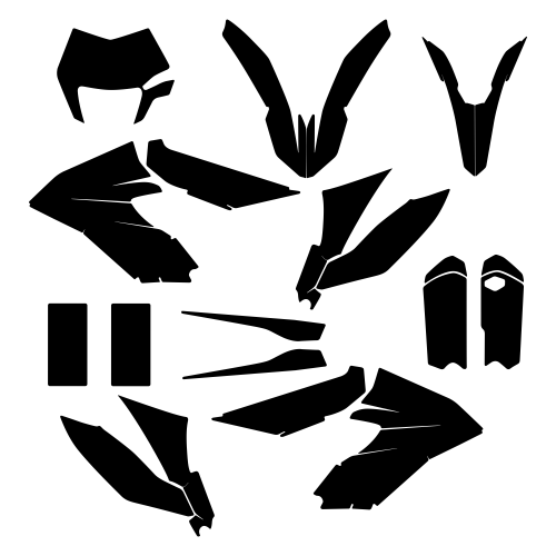 KTM 350 FREERIDE 2018 Graphic Templates