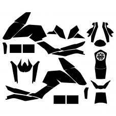 KTM DUKE 125 200 390 2011 2012 2013 2014 2015 2016 Graphic Templates