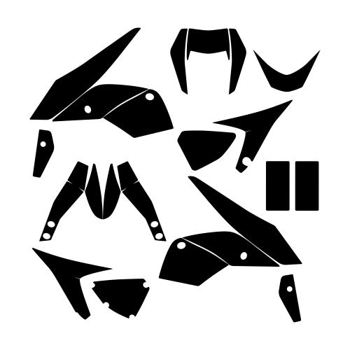 KTM DUKE 690 Graphic Templates
