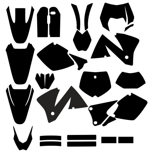 KTM EXC 2001 2002 Full Kit Graphic Templates