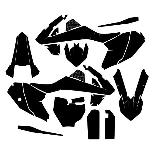 KTM SX 65 2018 Graphic Templates