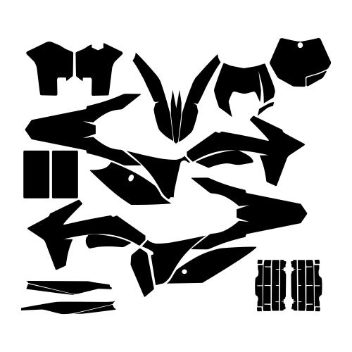 KTM SX Series 2011 2012 Graphic Templates