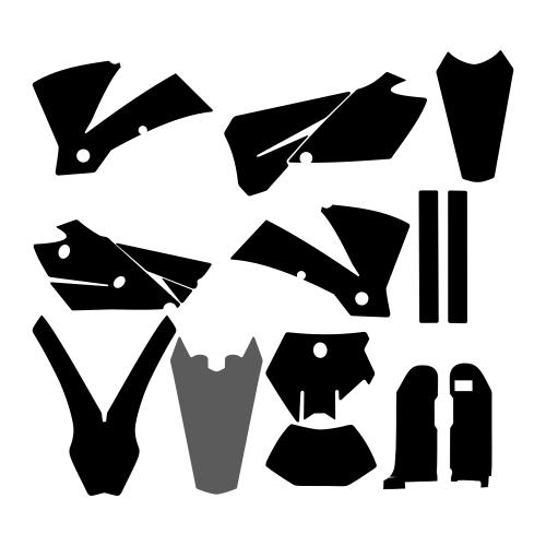 KTM EXC 2004 Graphic Templates