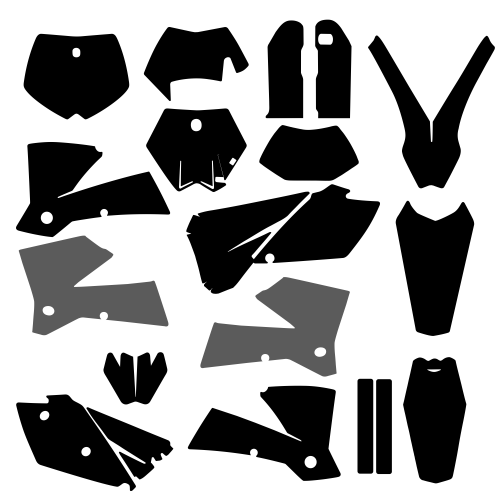KTM EXC 2005 2006 2007 Graphic Templates