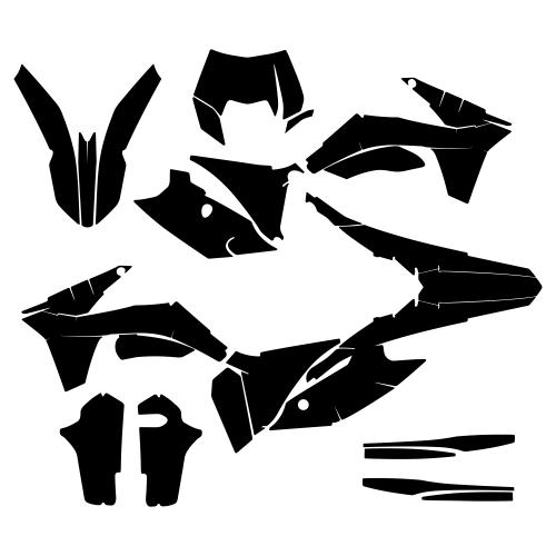 KTM EXC 2013 Graphic Templates