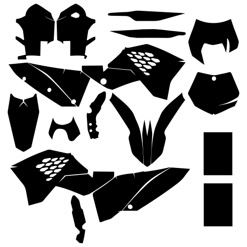 KTM EXC 450 2008 2009 2010 2011 Graphic Templates