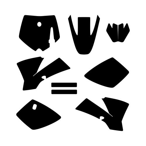 KTM SX 50 2002 2003 2004 2005 2006 2007 2008 Graphic Templates