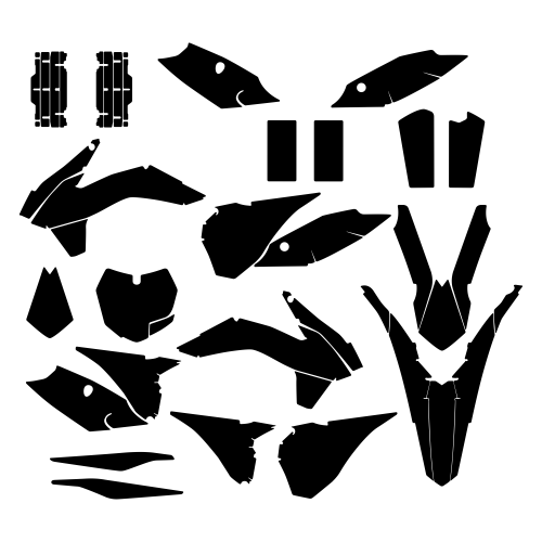 KTM SXF 250 350 450 2015 Graphic Templates