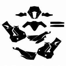 KTM 450 RALLY Graphic Templates