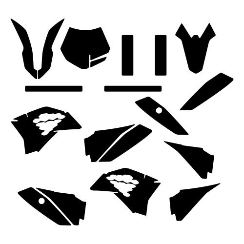 KTM SX 50 2014 2015 Graphic Templates