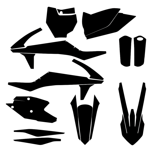 KTM SXF 250 450 2016 Graphic Templates