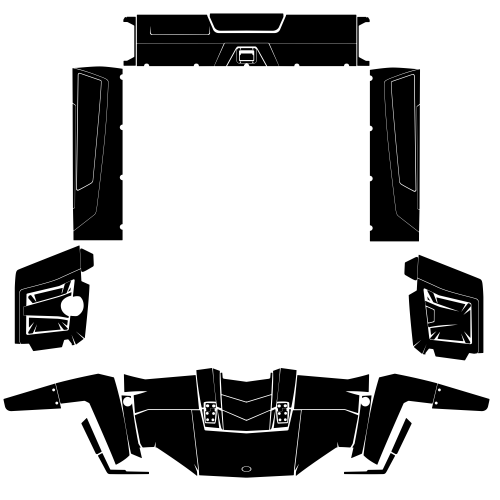 Polaris Ranger 500 700 EFI 2009 2010 2011 2012 Graphic Templates