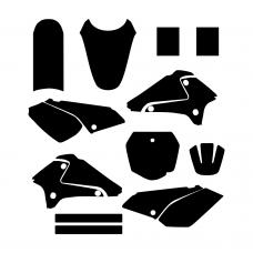 Suzuki DRZ 125 2001 2002 2003 2004 2005 2006 2007 2008 2009 2010 2011 2012 Graphic Templates