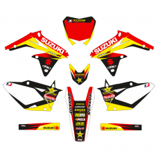 Suzuki RMZ 450 2008 2009 2010 2011 2012 2013 2014 2015 2016 2017 ROCK EDITABLE DESIGNS Graphic Templates