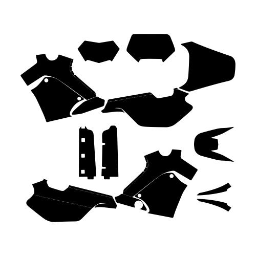Yamaha TT 600E Graphic Templates