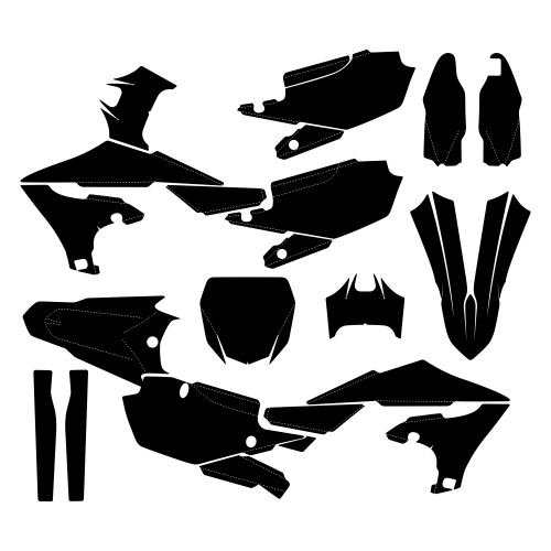 Yamaha YZF 250 2019 2020 Graphic Templates