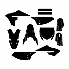 Yamaha YZ 65 2018 2019 2020 2021 Graphic Templates