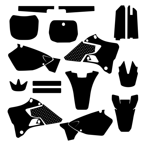 Yamaha YZ 125 250 1996 1997 1998 1999 2000 2001 Graphic Templates