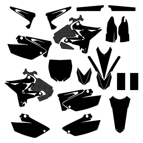 Yamaha YZ 125 250 UFO Restyled 2015 Graphic Templates