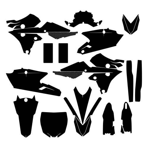 YAMAHA YZF 250 2015 Graphic Templates