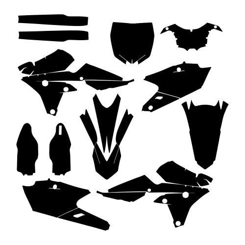 Yamaha YZF 250 450 2014 2015 Graphic Templates