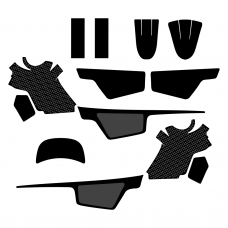 YAMAHA PW 50 Full Kit Graphic Templates