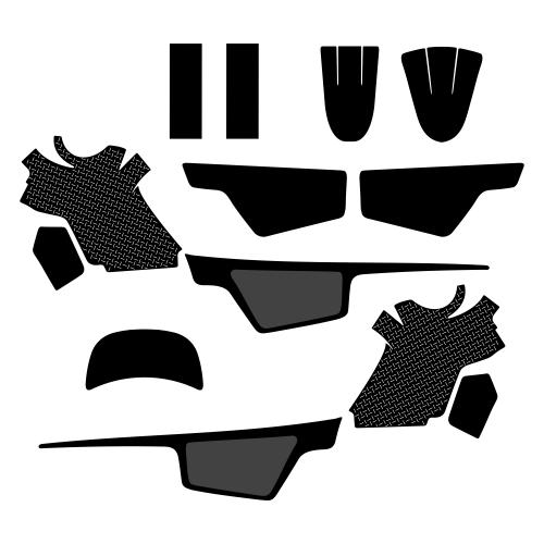 YAMAHA PW 50 Full Kit Graphic Templates