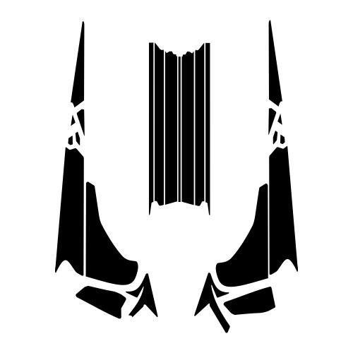 Polaris Pro-RMK 2011-2015 Tunnel Graphics Template