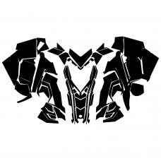 Polaris RMK Axys 2016 Hood Graphic Templates