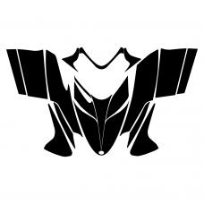 Polaris Dragon 2005 2006 2007 2008 2009 2010 2011 2012 Hood Graphic Templates