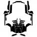 POLARIS RZR 900 900XP FULL KIT Graphic Templates