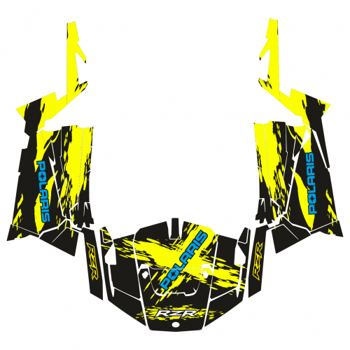 Polaris RZR 900 MUD EDITABLE DESIGNS Graphic Templates