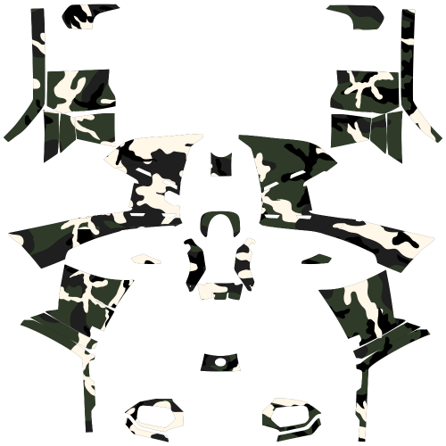 Polaris Sportsman 500 Military Camo EDITABLE DESIGNS Graphic Templates