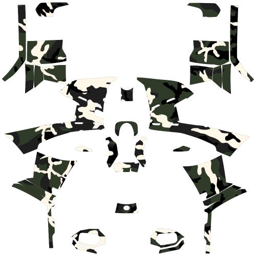 Polaris Sportsman 500 Military Camo EDITABLE DESIGNS Graphics Template