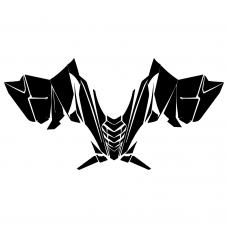 Yamaha SR Viper Hood Graphic Templates