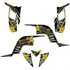 YAMAHA Raptor 90 Rockstar EDITABLE DESIGNS Graphic Templates