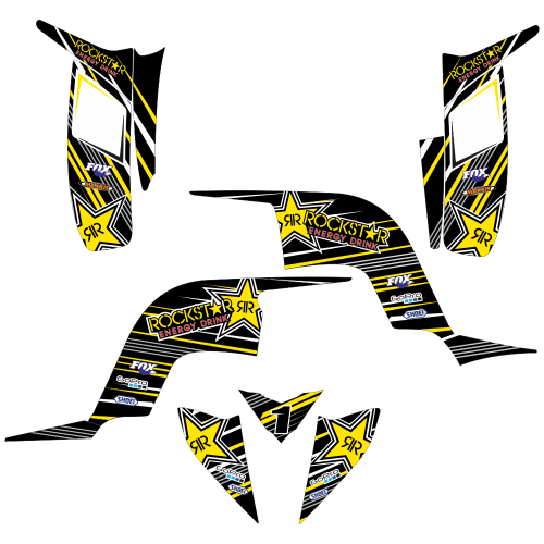 YAMAHA Raptor 90 Rockstar EDITABLE DESIGNS Graphic Templates