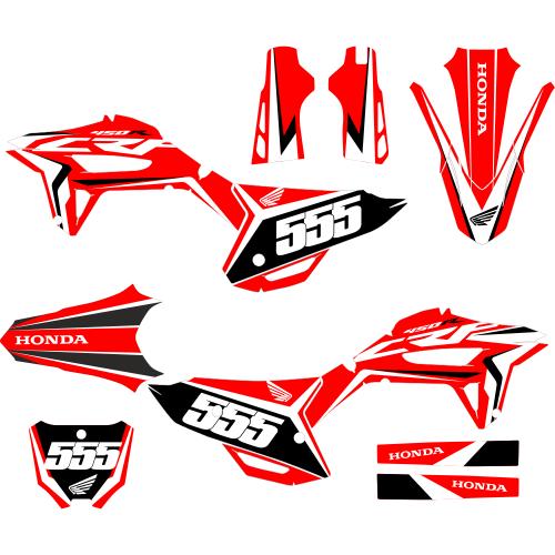 HONDA CRF 450R 2021- Racing EDITABLE DESIGNS Graphic Templates