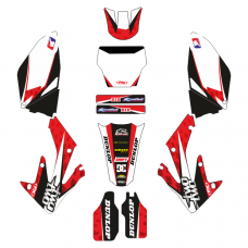 Honda CRF 250 2006-2007 EDITABLE DESIGNS Graphic Templates