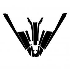 Kawasaki 550 SX Jet Ski Graphic Templates