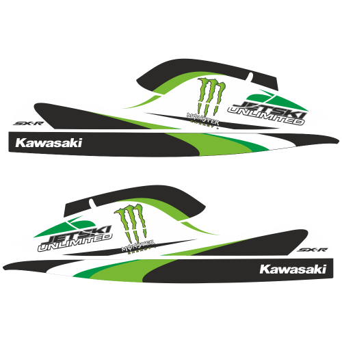 Kawasaki SXR Monster EDITABLE DESIGNS Graphic Templates