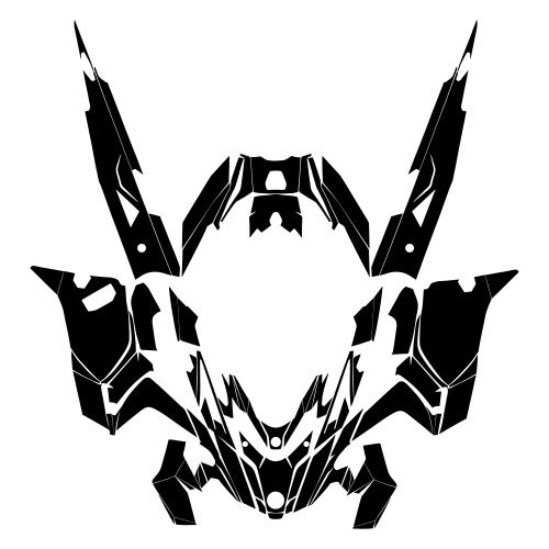 Lynx Rave 600 850 2018 2019 Full Kit Graphic Templates